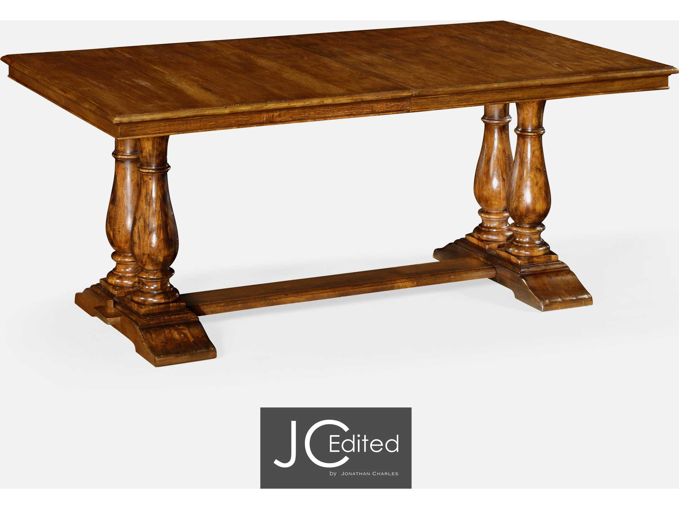 Edited Casually Country Walnut Country Farmhouse Casual Dining Table