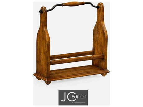 Jonathan Charles JC Edited - Casually Country Walnut Country Farmhouse Wine Rack