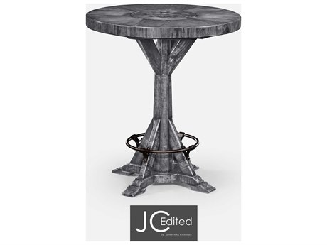Jonathan Charles JC Edited - Casually Country Antique Dark Grey On Veneer Bar Table