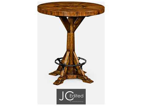 Jonathan Charles JC Edited - Casually Country Walnut Country Farmhouse Bar Table