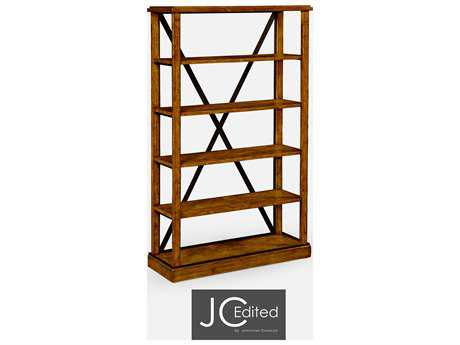 Jonathan Charles JC Edited - Casually Country Walnut Country Farmhouse Bookcase