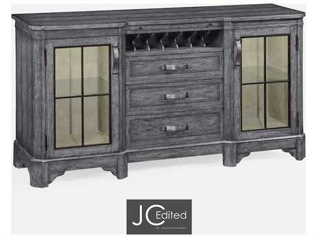 Jonathan Charles JC Edited - Casually Country Antique Dark Grey On Veneer Wine Rack