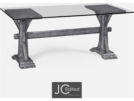Jonathan Charles JC Edited - Casually Country Antique Dark Grey Accent Desk