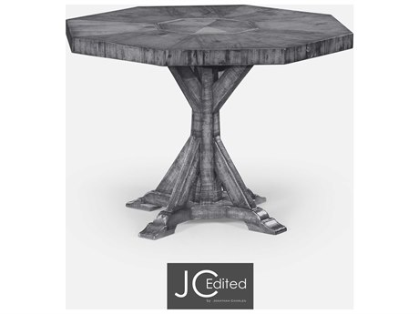 Jonathan Charles JC Edited - Casually Country Antique Dark Grey On Veneer Casual Dining Table