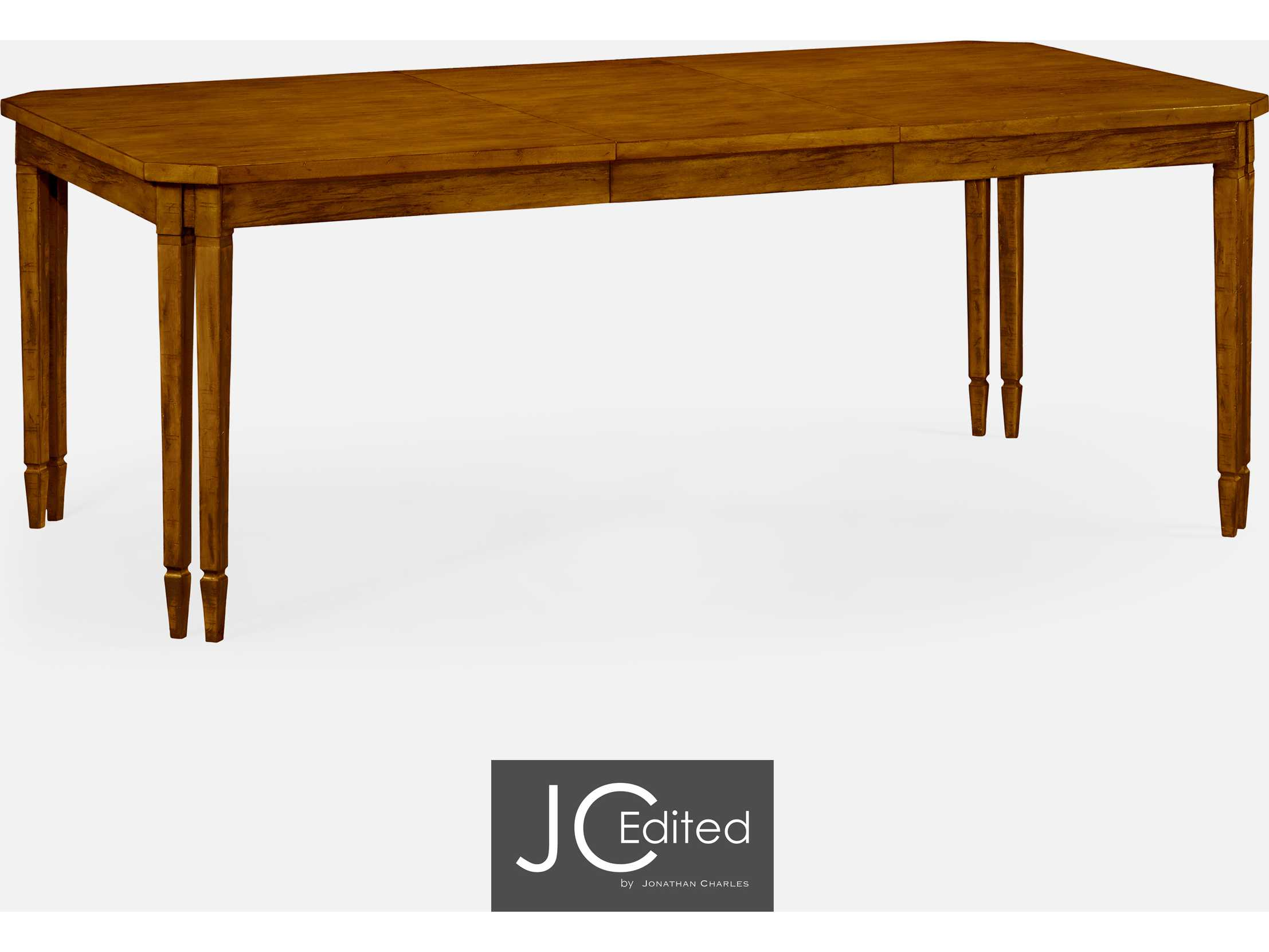 Jonathan charles jc edited casually country walnut for Informal dining table