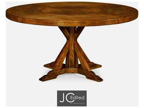 Jonathan Charles JC Edited - Casually Country Walnut Country Farmhouse Casual Dining Table