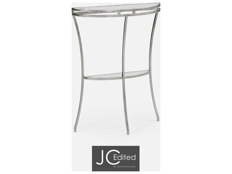 Jonathan Charles JC Edited - Simply Elegant Gilded Antique Silver-Leaf (Least Antique) Console Table