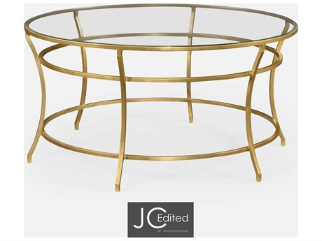 Jonathan Charles JC Edited - Simply Elegant Gilded Iron (Least Antique) Coffee Table