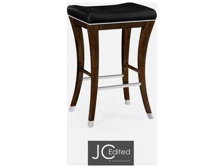 Jonathan Charles JC Edited - Comfortably Modern American Walnut On Wood Counter Stool