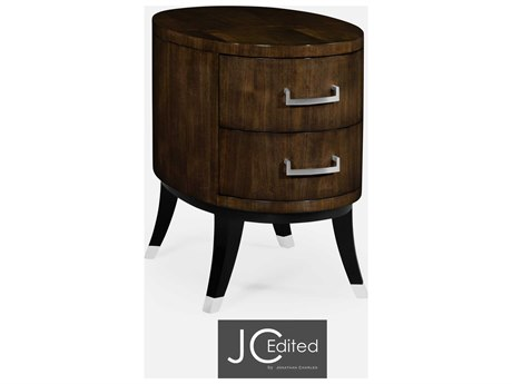 Jonathan Charles JC Edited - Comfortably Modern American Walnut On Veneer Chest of Drawers
