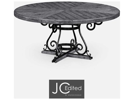 Jonathan Charles JC Edited - Casually Country Antique Dark Grey Casual Dining Table