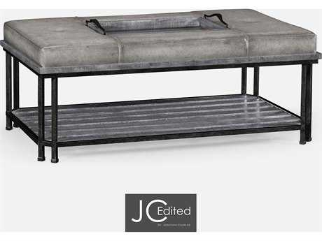 Jonathan Charles JC Edited - Casually Country Antique Dark Grey Ottoman