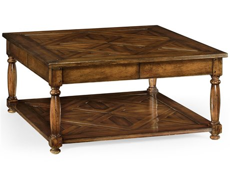 Jonathan Charles Country Farmhouse Dark Walnut 42 Square Coffee Table