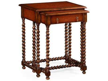 Jonathan Charles Windsor Medium Walnut 24 x 16 Rectangular Nesting Table
