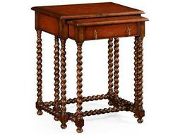 Jonathan Charles Windsor Medium Walnut 24 x 16 Rectangular Nesting Table