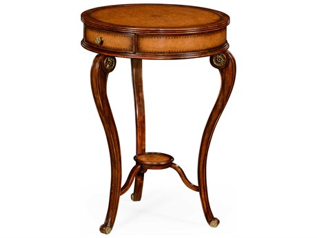 Jonathan Charles Windsor Medium Walnut 20.5 Round End Table