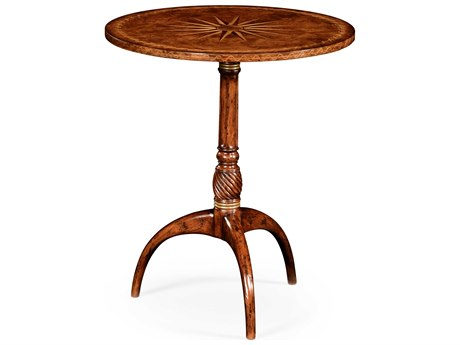 Jonathan Charles Windsor Medium Walnut 24 Round Pedestal Table
