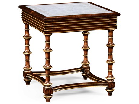 Jonathan Charles Luxe Medium Walnut 24 Square End Table