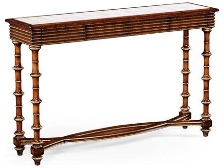 Jonathan Charles Luxe Medium Walnut 52 x 13.5 Rectangular Console Table