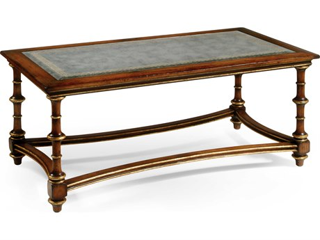 Jonathan Charles Luxe Medium Walnut 55 x 27.5 Rectangular Coffee Table