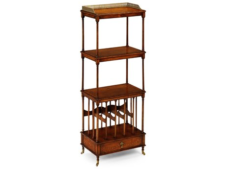 Jonathan Charles Windsor Medium Walnut Etagere Rack