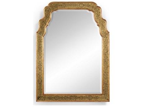 Jonathan Charles Versailles 38 x 52 Genuine Gold-Leaf Eglomise Glass Wall Mirror