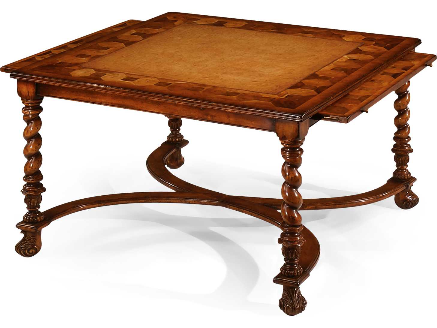 Jonathan Charles Windsor Medium Walnut 36 5 Square Coffee Table Jc492098