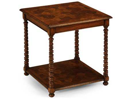 Jonathan Charles Windsor Medium Walnut 24 Square End Table