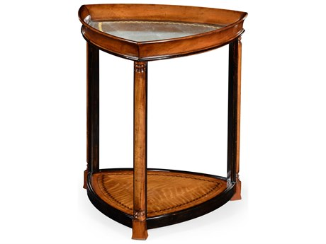 Jonathan Charles Windsor Light Walnut 23.75 Triangular End Table