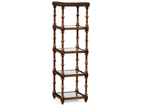 Jonathan Charles Luxe Medium Walnut Etagere Rack