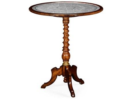 Jonathan Charles Windsor Medium Walnut 24 Round Bar Table