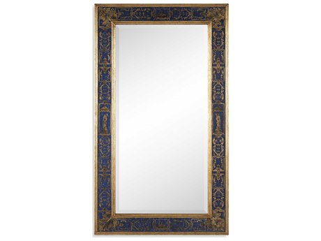 Jonathan Charles Buckingham 28 x 48 Light Antique Gold-Leaf Wall Mirror