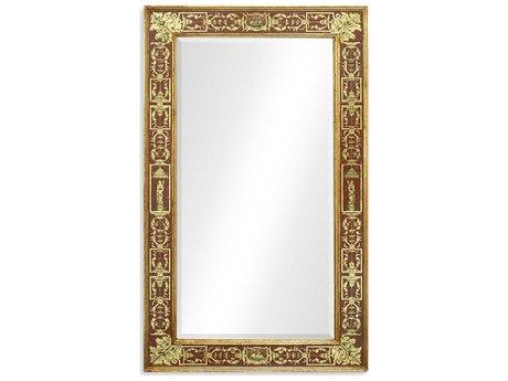 Jonathan Charles Buckingham 28 x 48 Light Antique Gold-Lead With Rub-Through Wall Mirror