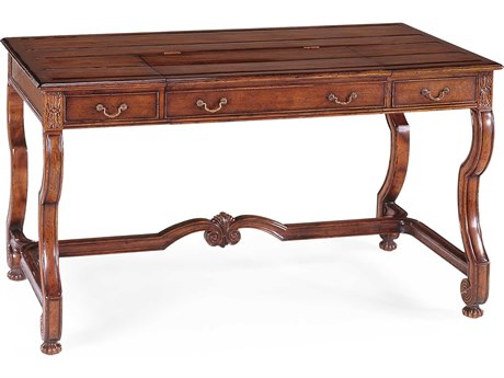 Jonathan Charles Windsor Medium Walnut Country Distressed Conference Desk