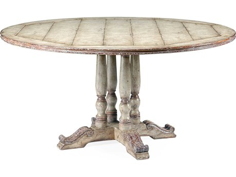 Jonathan Charles Country Farmhouse Painted Country Sage French Style 60'' Round Dining Table