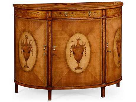 Jonathan Charles Versailles Medium Satinwood Demilune Cabinet