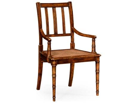 Jonathan Charles Country Farmhouse collection Walnut Medium Accent Arm Chair