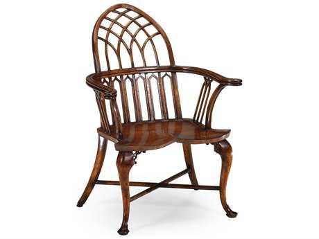 Jonathan Charles Windsor Medium Walnut  Accent Chair