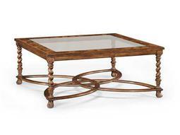 Jonathan Charles Windsor Medium Walnut 52.5 Square Coffee Table