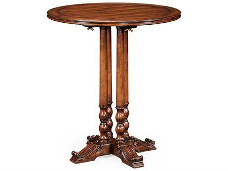 Jonathan Charles Country Farmhouse Medium Walnut 36 Round Bar Dining Table