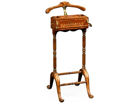 Jonathan Charles Duchess Light Burr Walnut Lustre Valet Stand Rack
