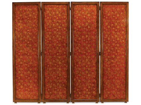 Jonathan Charles Hampton Medium Walnut Four Panel Room Divider