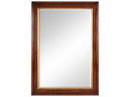 Jonathan Charles Windsor 34 x 48 Medium Walnut Wall Mirror
