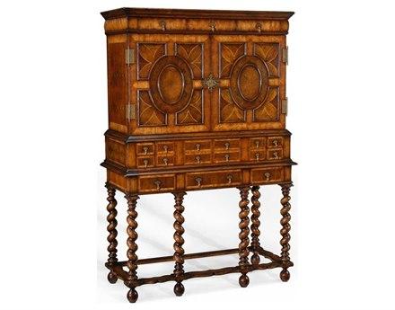 Jonathan Charles Windsor Medium Walnut Bar Cabinet