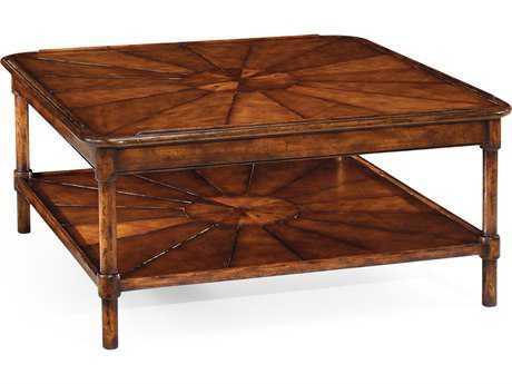 Jonathan Charles Country Farmhouse Medium Walnut 42.5 Square Coffee Table