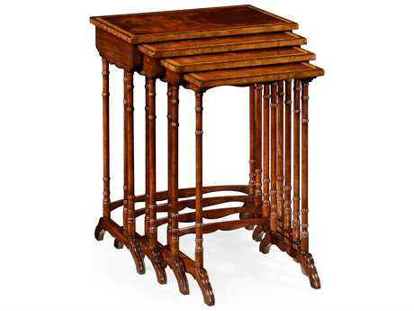 Jonathan Charles Buckingham Medium Antique Mahogany 23.5 x 15 Rectangular Nesting Table