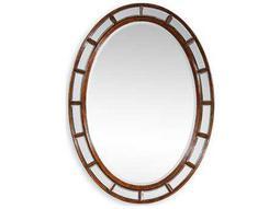 Jonathan Charles Windsor 32 x 44 Medium Walnut Wall Mirror
