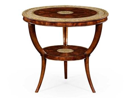 Jonathan Charles Buckingham Medium Antique Mahogany 33 Round Coffee Table