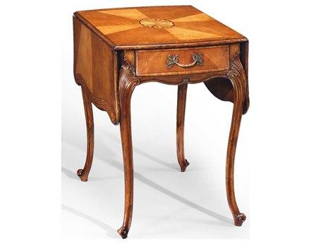 Jonathan Charles Versailles Light Satinwood 20.75 x 27 Rectangular Console Table