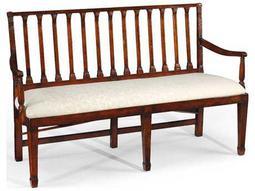 Jonathan Charles Windsor Medium Walnut Accent Bench